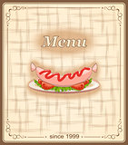 banner for menu with sausage