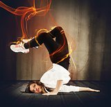 Fire breakdancer