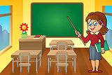 Woman teacher theme image 6