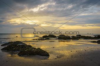 Beautiful Sunrise at Hua Hin beach, Thailand