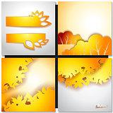 Autum Yellow Leaf Background