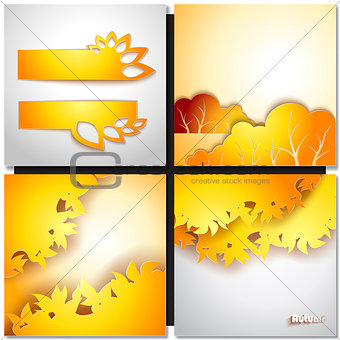 Autum Yellow Leaf Background