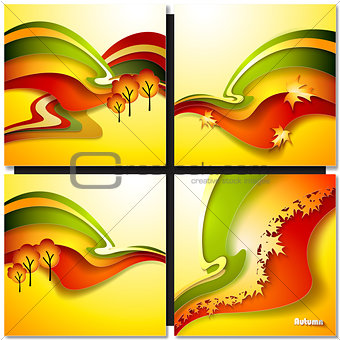 Autum Leaf Vector Background