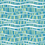 Vector seamless pattern of wavy lines