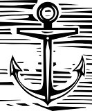 Woodcut Anchor