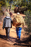 Hikers on a trail