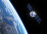 Satellite Deploys Solar Panels