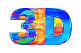 3D Glass Logo.