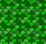 Seamless Fish Scale Pattern Vector Illustration