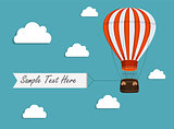 Air Balloon Background with Place for Your Text Vector Illustrat