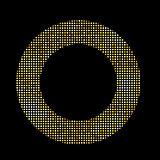 Golden Shiny Frame Vector Illustration