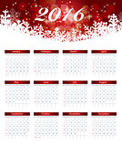 Calendar 2016 New Year. Vector Illustration