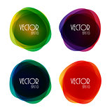 Set of Round Circle Colorful Vector Shapes