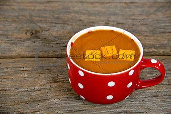 tomato soup in soup mug