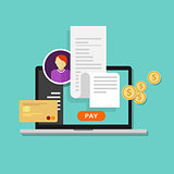pay bills tax online receipt billing payment