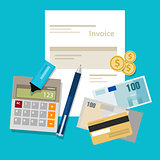 invoice invoicing payment money calculator pay