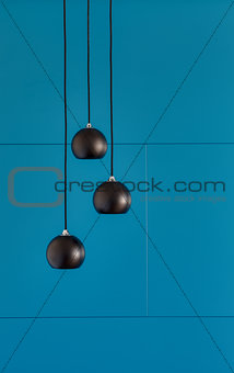Three ceiling lights, loft-style interi