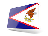 Square icon with flag of american samoa