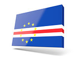 Square icon with flag of cape verde
