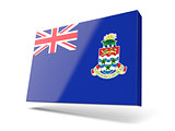 Square icon with flag of cayman islands