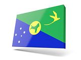 Square icon with flag of christmas island