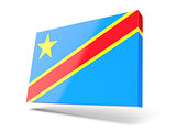 Square icon with flag of democratic republic of the congo