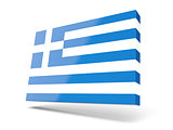 Square icon with flag of greece