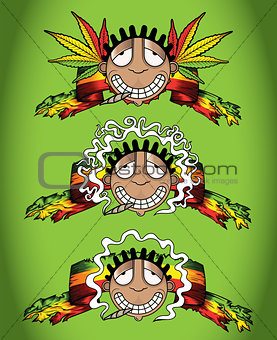 cannabis marijuana happy recreational smoker vector illustration