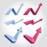Origami arrows
