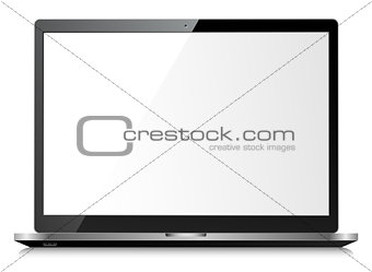 Black shiny laptop