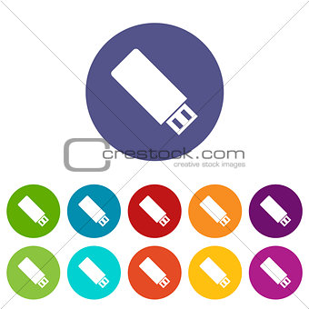 Flash drive flat icon