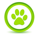 Green paw icon