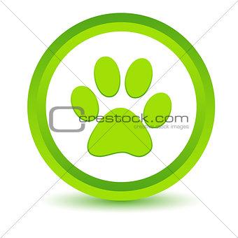 Green paw icon