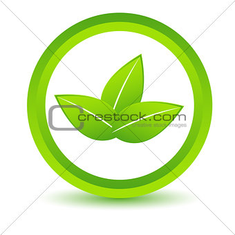 Green leafs icon