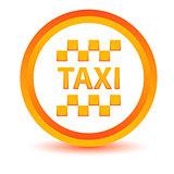 Orange taxi icon
