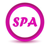 Purple spa icon
