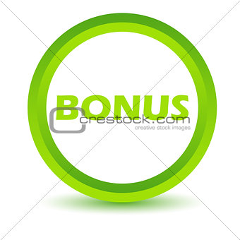 Green bonus icon
