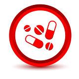 Red medicine icon