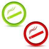Smoking icons set