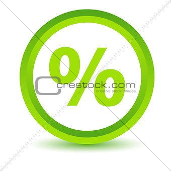 Green percentage icon