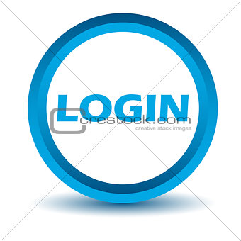 Blue login icon