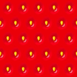 Red strawberry seamless texture pattern with seed