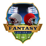 American Fantasy Football Emblem Illustration