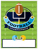 American Football Championship Flyer Illustration