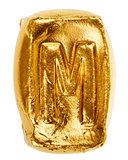 Handmade ceramic letter M