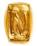 Handmade ceramic letter N