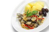 horse mackerel escabeche, spanish portuguese cuisine