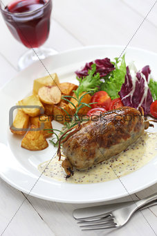 andouillette, french lyonnaise sausage