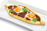 mince meat pide, turkish pizza