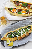 pide, turkish pizza
